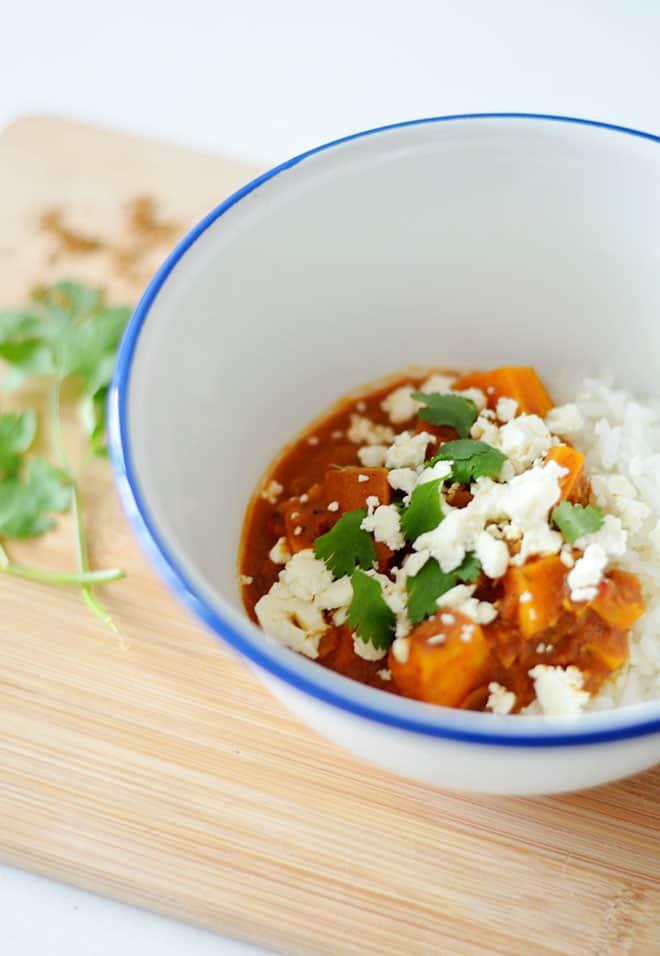 zoete aardappelcurry