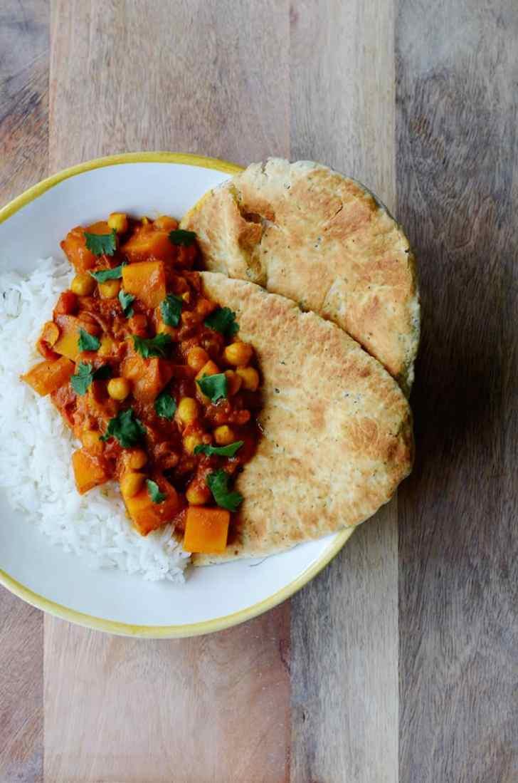 curry pompoen kikkererwten