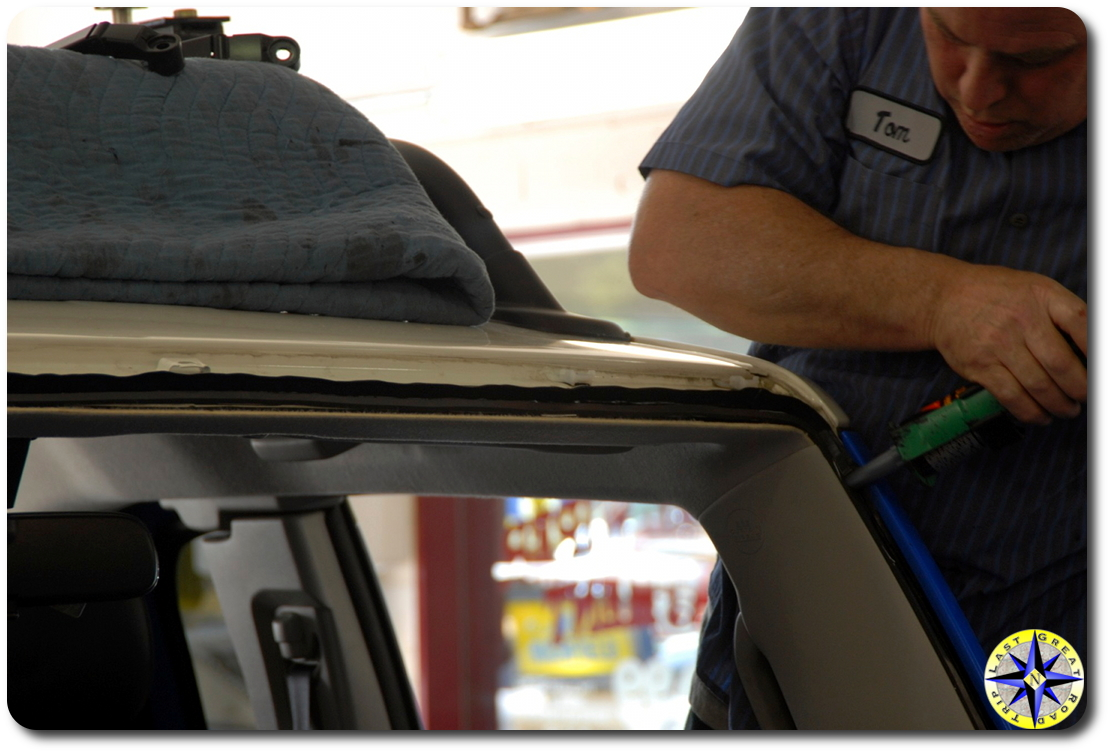 Replacing The FJ Cruiser Windshield Before Off Road Adventures Overland Adventures And Off Road