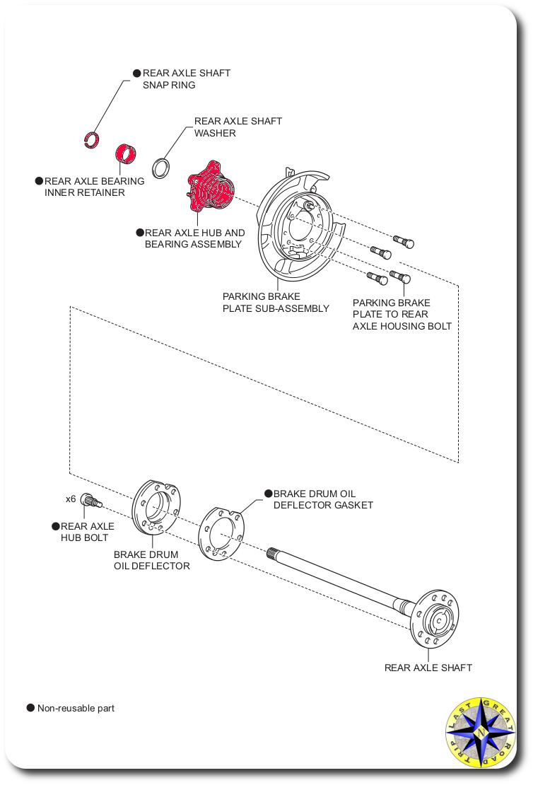 medium resolution of rear axle parts list