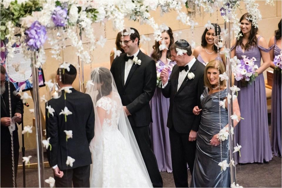 Purple Jewish Wedding Adath