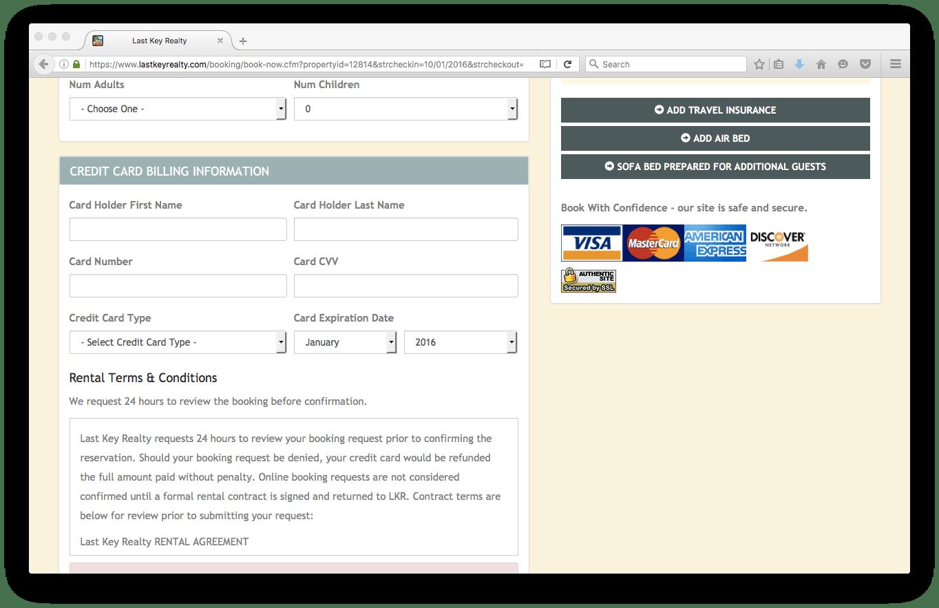 Booking - Last Key Realty Blog