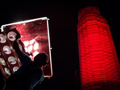 'MONUMENT' Paints the Town Red. Literally.