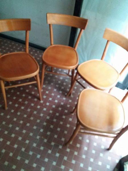Sedia da scrivania in legno di faggio anni 60. 4 Sedie Anni 60 In Legno Lastminuteaffari It