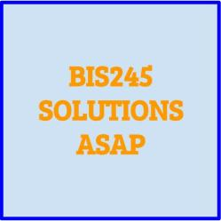 Bis245 assignment help