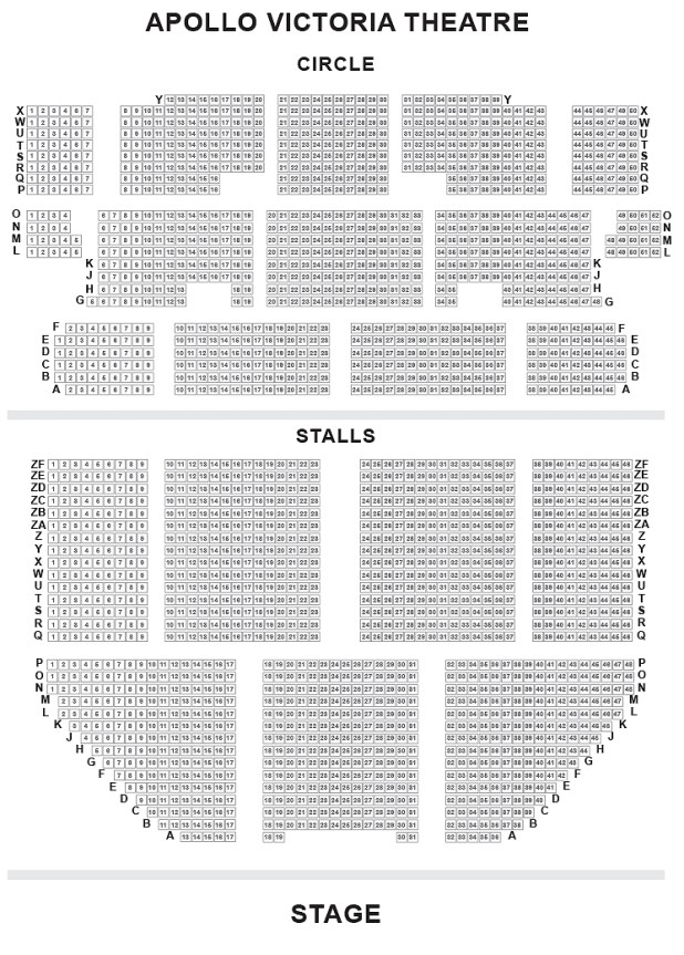 Apollo Victoria Theatre Seating Plan Best Seats