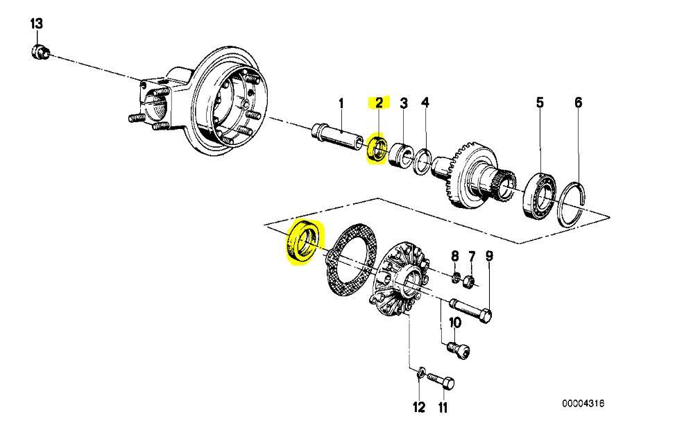 Abdichten des Hinterradantriebes BMW Langschwinge