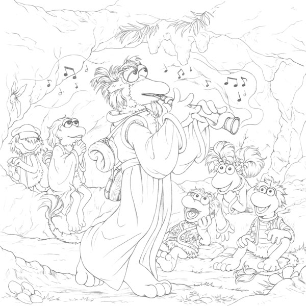Fraggle Rock Cover Illustration