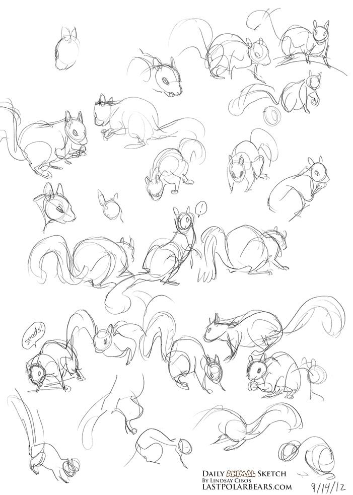Daily Animal Sketch – Squirrel Action