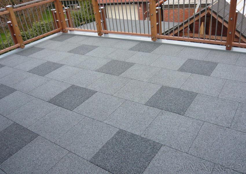 Il pavimento WARCO di gomma EPDM per terrazzo e balcone