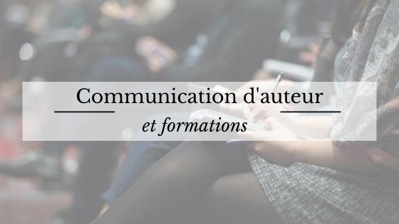Communication d'auteur et formations