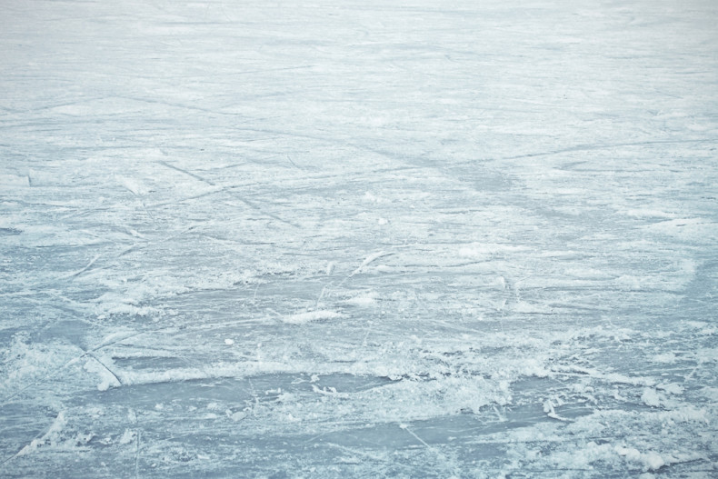 A sheet of ice