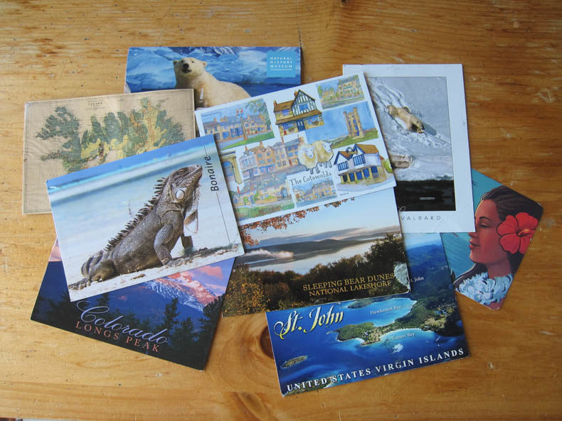 Postcards from Iceland, Bonaire, Colorado, St. John, Sleeping Bear Dunes National Park, the Cotswolds, Svalbard, Hawaii, and the Natural History Museum of Los Angeles