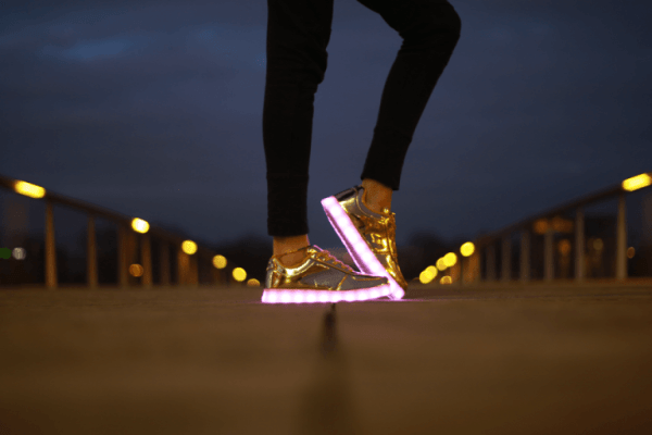 les baskets lumineuse