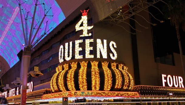4 Queens in downtown Las Vegas