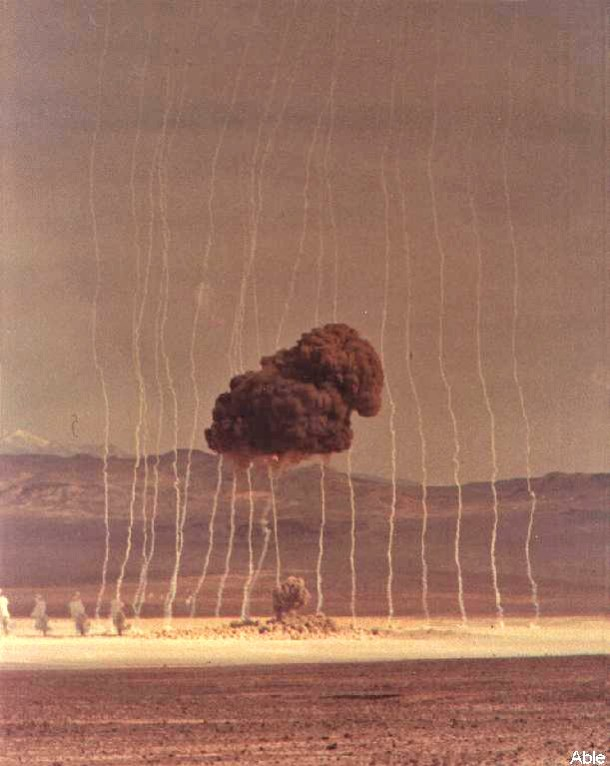 Able- First Nuclear Test At the Nevada Test Site January 27, 1951