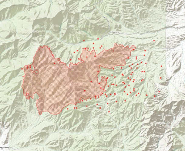 Carpenter 1 Fire Mt. Charleston 7/10/2013 5:00pm Click to View Larger Map