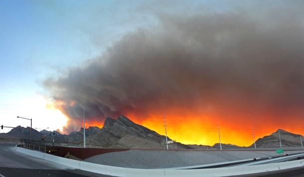 Mt. Charleston Carpenter 1 Fire july 8, 2013