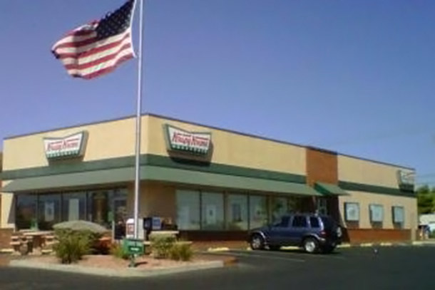 Krispy Kreme's first store to open on the west coast.