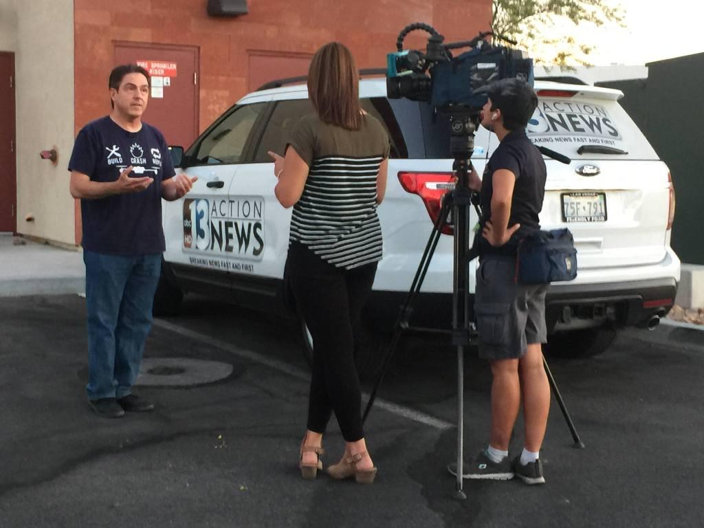 Scott RoebenofVitalVegas.com being interviewed by KTNV
