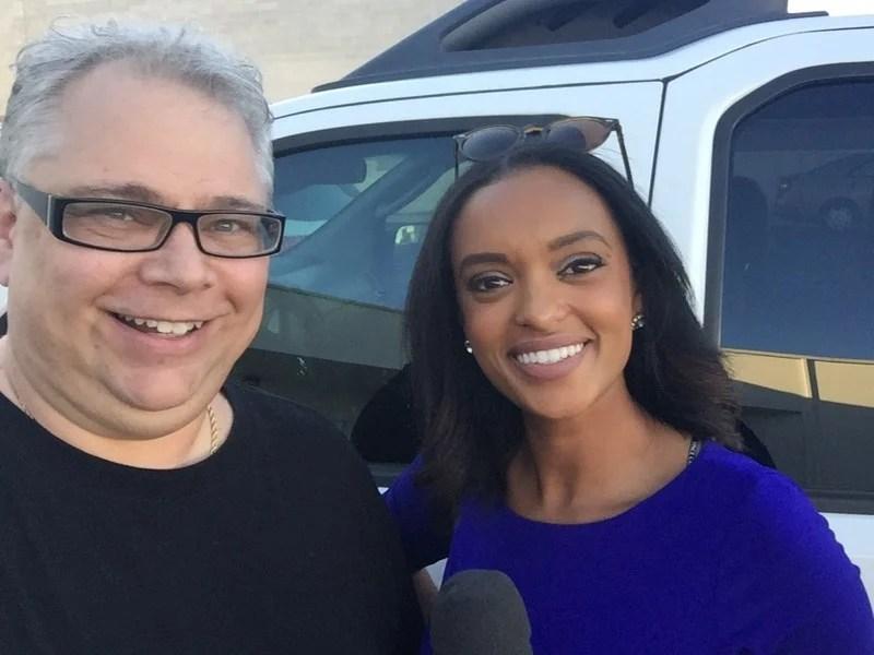 Andrew DiMino with Abby Theodros of Fox5 News Las Vegas