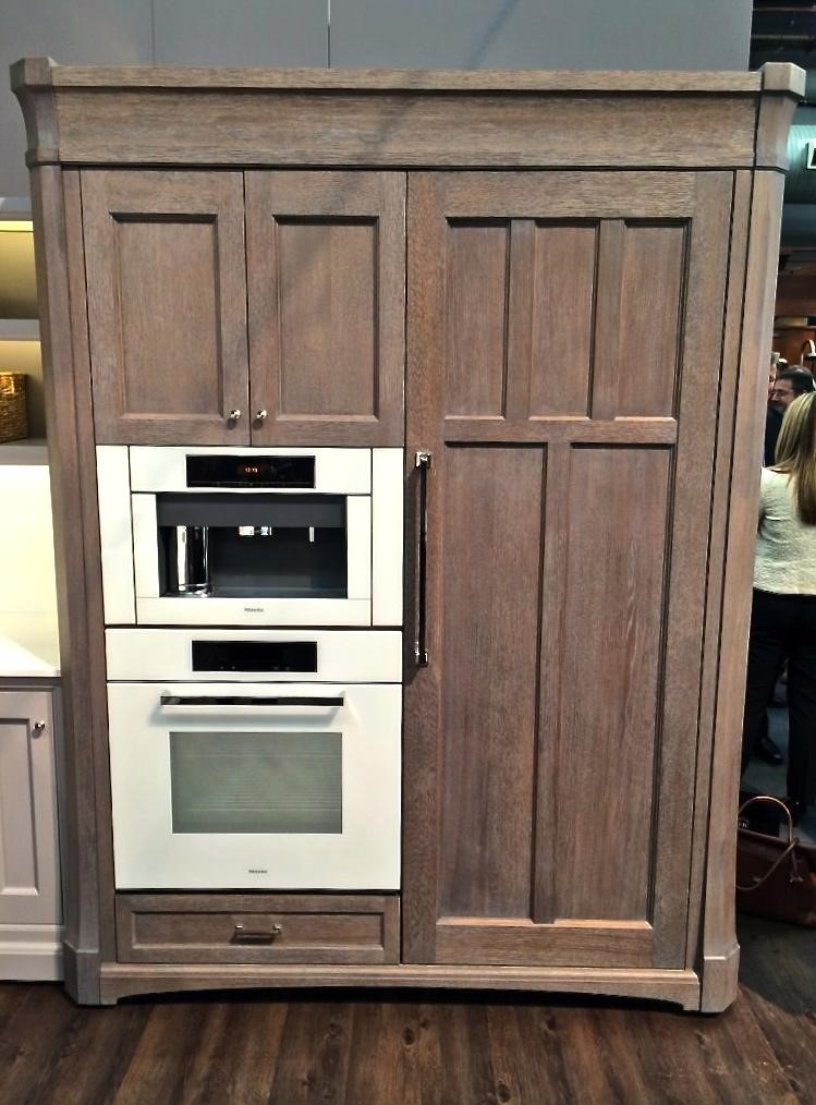 I Loved How They Combined The White Oak Finish Of Ruttu0027s Appliance Armoire  With The Clean Lines Of The Brilliant White Finish Of Mieleu0027s 6000 PureLine  ...