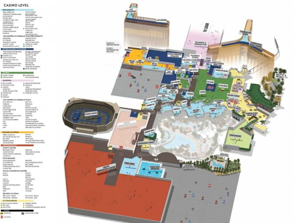 Mandalay Bay Las Vegas property map