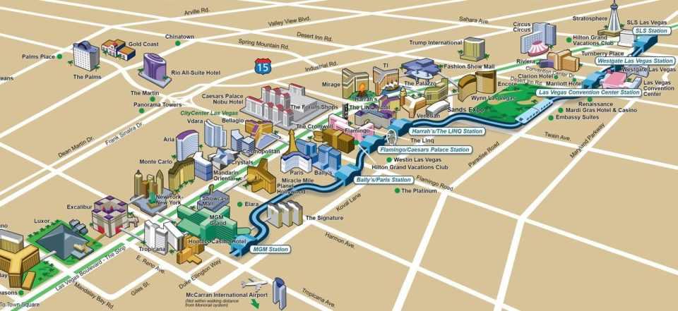las vegas monorail route map