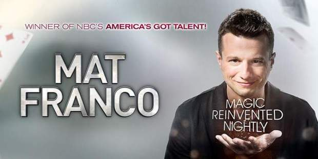 Mat Franco Magic Reinvented Nigthly Discount Las Vegas