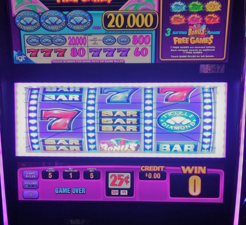 Vegas slot machine with multiple paylines