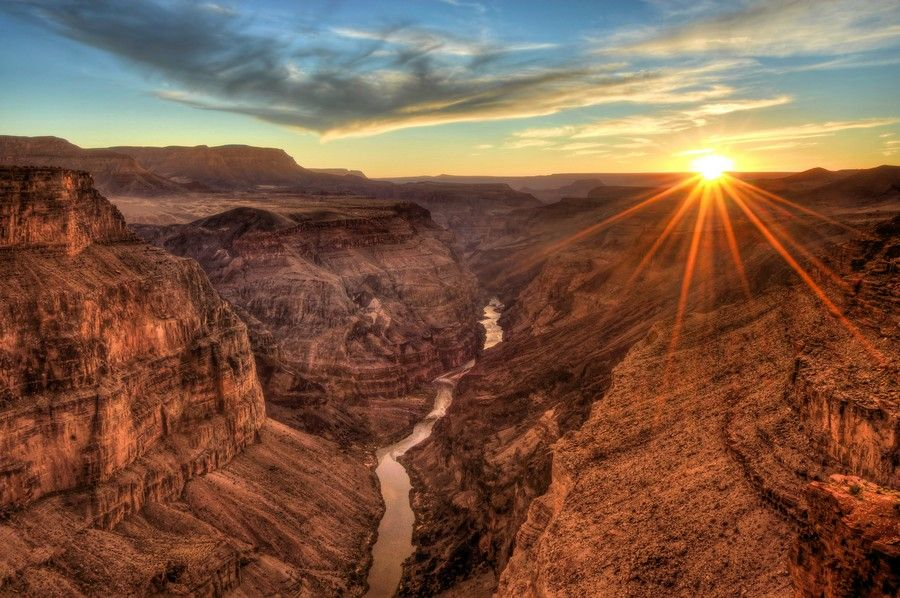 las vegas grand canyon south rim sunset
