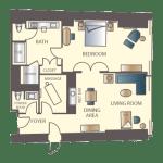 Encore Las Vegas Parlor Suite Floorplan