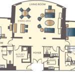 Encore Las Vegas Two Bedroom Appartment Floorplan