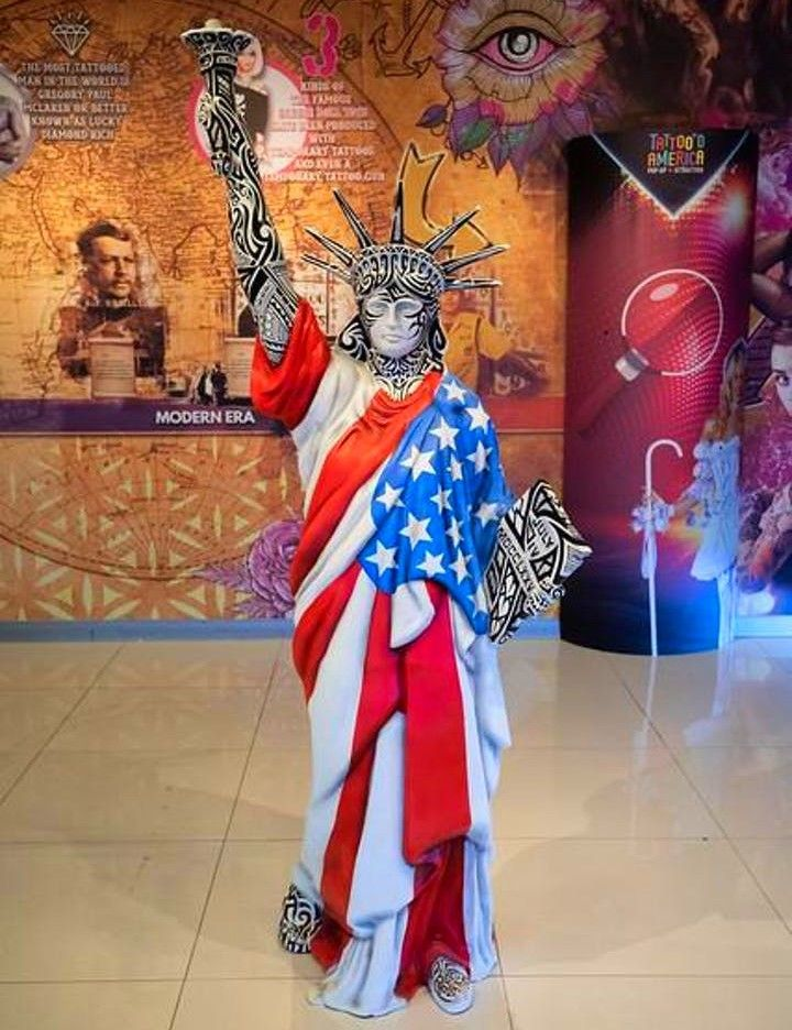 Tattoo'd America Lady Liberty Las vegas