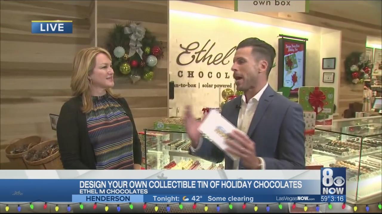 Design your own collectible tin at Ethel M. Chocolates