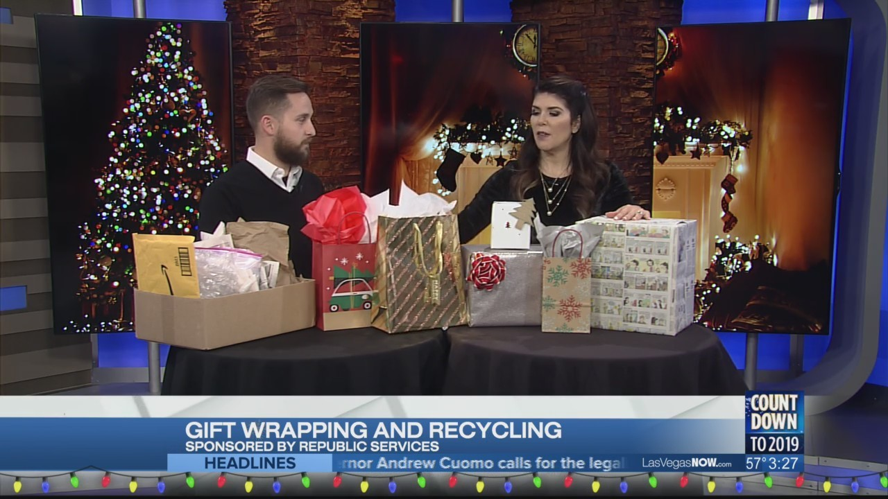 Gift wrapping and recycling with Republic Services