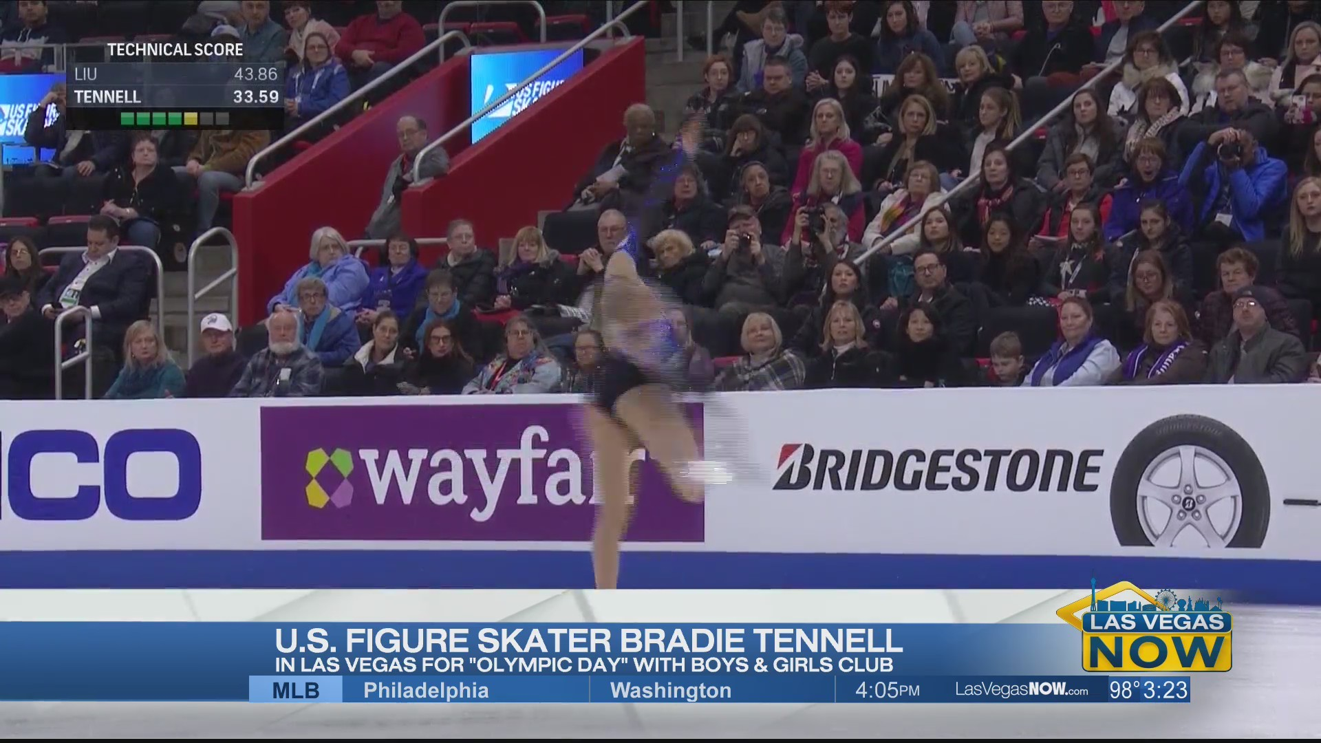 Figure skater Bradie Tennel visits Vegas for Olympic Day