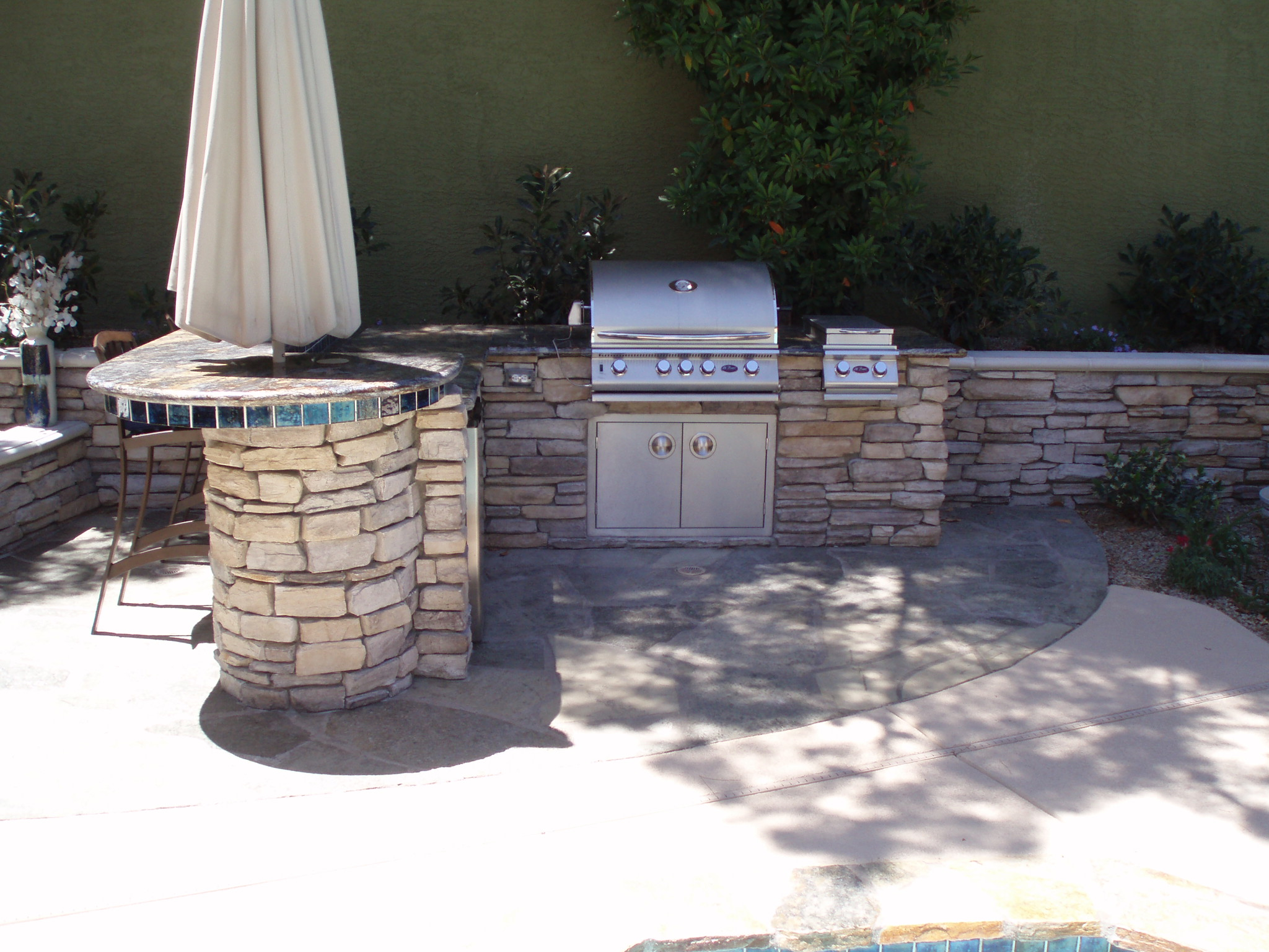 outdoor kitchens las vegas kitchen carts and islands barbecue