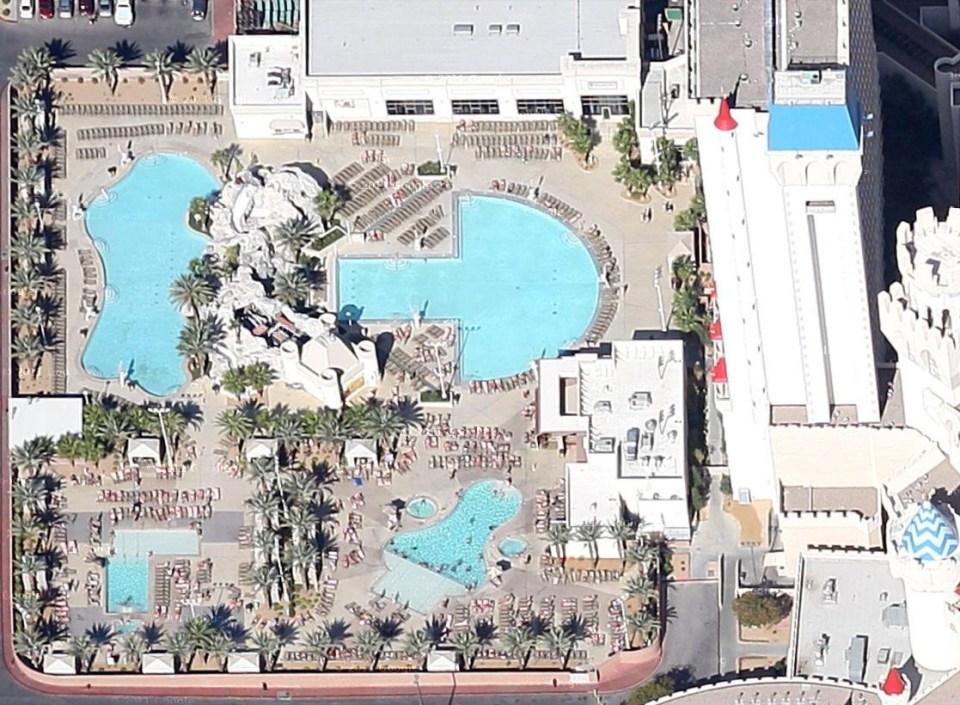 Excalibur hotel las vegas piscine