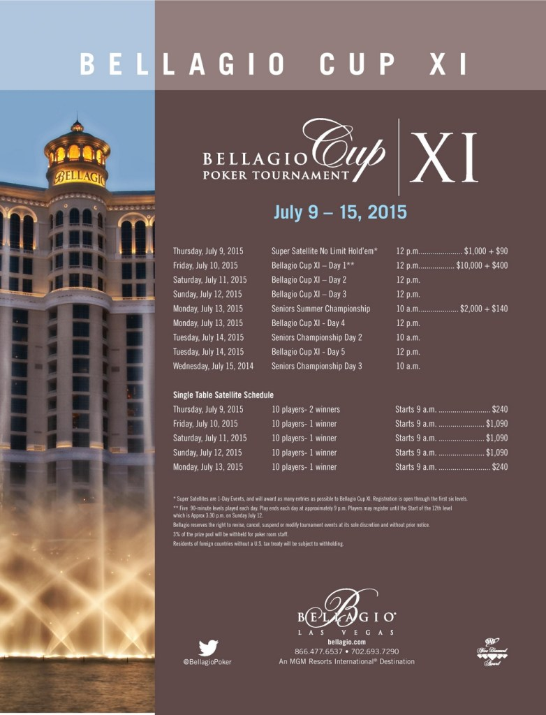 programme bellagio cup XI 2015