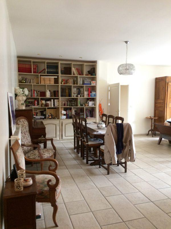 AVANT - Le projet : créer un sas d'entrée pour ne plus pénétrer directement dans les pièces de vie salon cuisine
