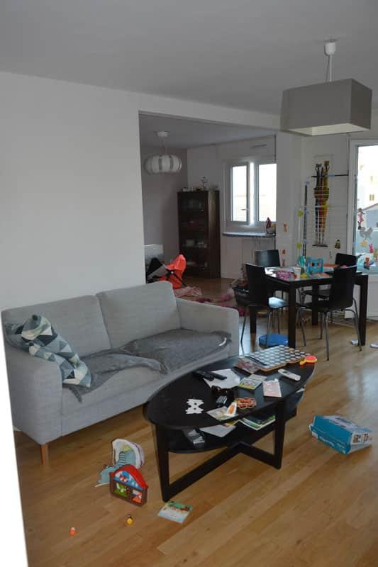 Exemple d'appartement familial traité en coaching maison