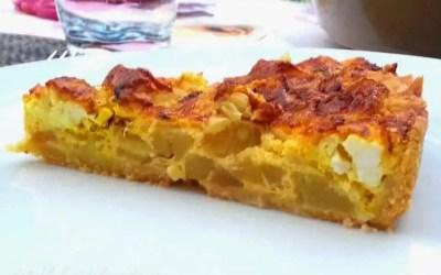QUICHE COURGETTE FETA sans gluten, faible en lactose, avec ou sans œufs