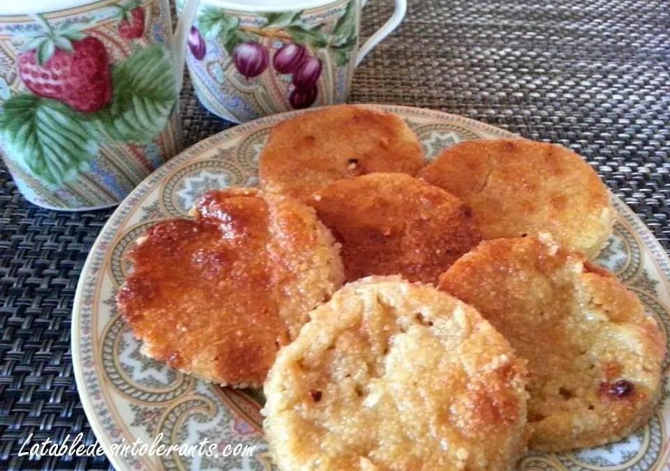 PALETS AUX AMANDES, sans gluten, sans lait, avec ou sans sucre, sans levure, sans oeufs