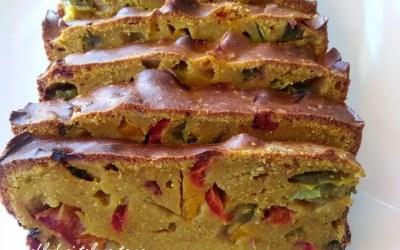 CAKE SALÉ AUX POIVRONS sans gluten, sans lait, sans levure