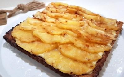 TARTE ANANAS ET NOIX DE COCO sans gluten, sans lait, sans sucre, sans levure, avec ou sans oeufs