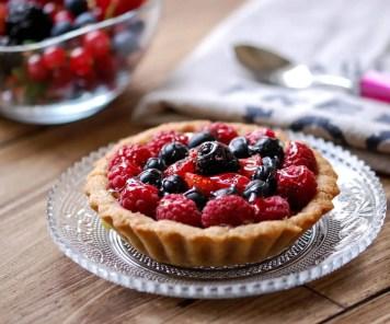 tartelettes aux fruits rougesFormat carré