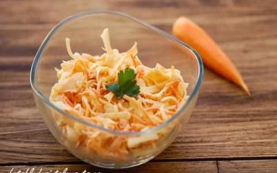 Coleslaw au chou blanc et aux carottes faible ou sans lactose, avec levure, avec ou sans oeuf