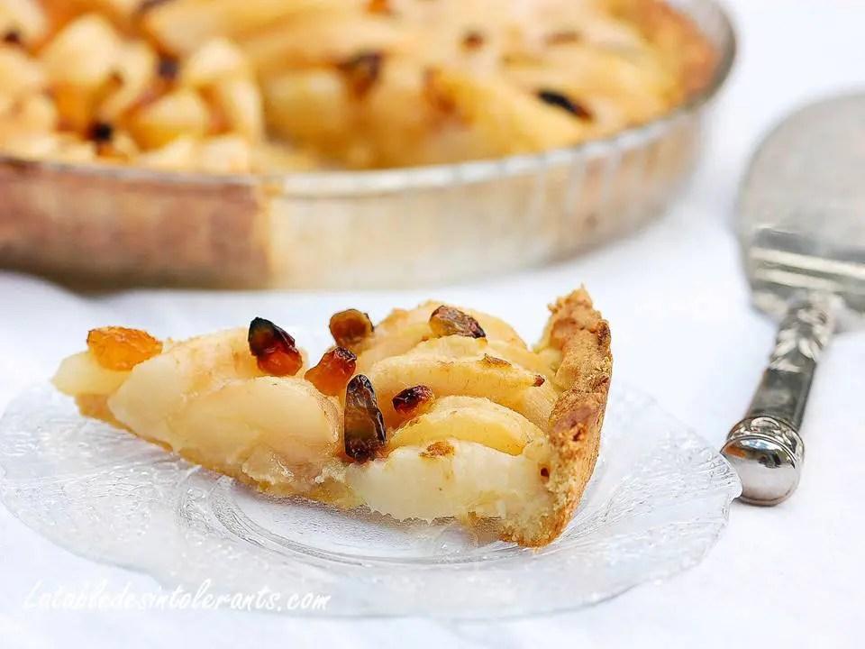 tartes aux poires pour intolérances et allergies alimentaires