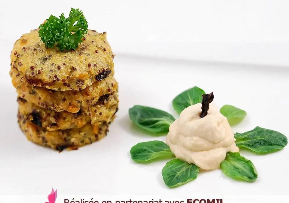 Galettes Vegan de Polenta aux grains de maïs et chantilly épicée sans gluten